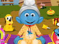 Smurf Baby Bathing