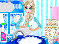 Elsa Washing Dishes