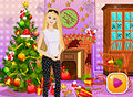 Barbie in Christmas Room Preparation