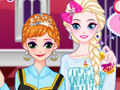 Elsa and Anna makeup party