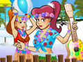 Hawaiian Sisters Dress Up