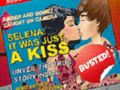 Justin and Selena Kissing Vacation